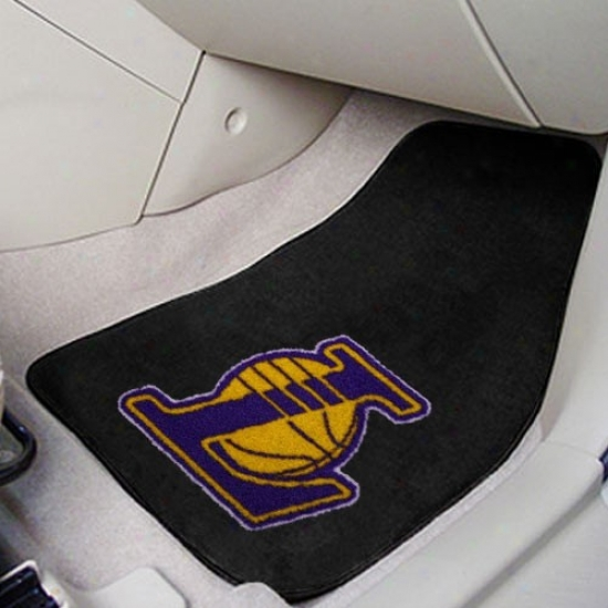 Los Angeles Lakers Black 2-piece Carpet Car Mat Set