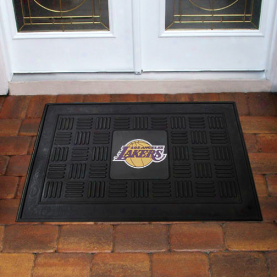 Los Angeles Lakers Black Team Logo Rubber Mat