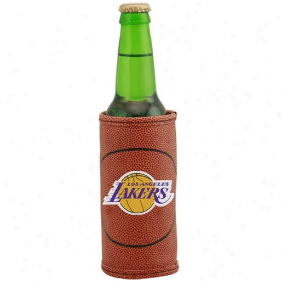 Los Angeles Lakers Brown Basketball Bottle Coolie