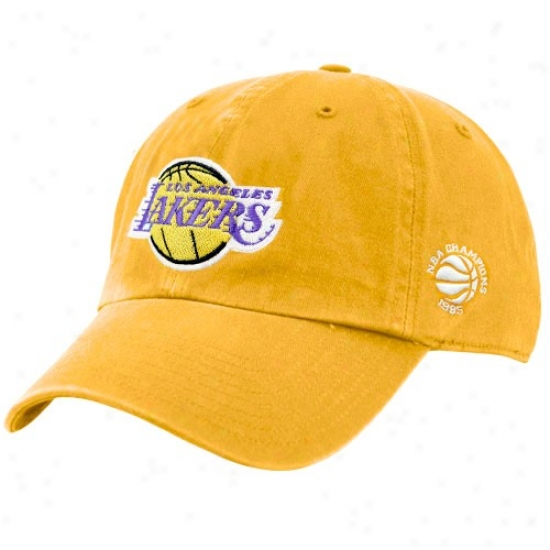 Los Angeles Lakers Cap : Twins '47 Los Angeles Lakers Gold 1985 Nba Champions Cleanup Cap