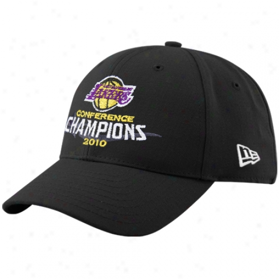 Los Angeles Lakers Caps : New Era Los Angeles Lakers 2010 Nba Western Conefrence Champions Black Adjustable Caps