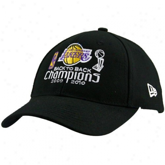 Los Angwles Lakers Caps : New Era Los Angeles Lakers 2010 Nba Champions Back-to-back Adjustable Caps
