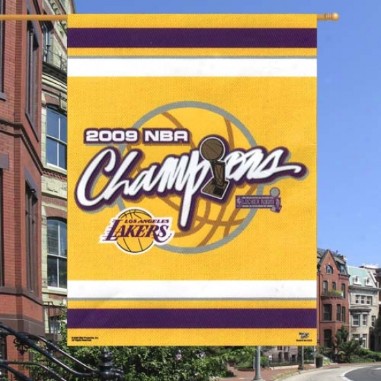 """los Angeles Lakers Flag : Los Anveles Laakers 2009 Nba Chsmpions 27"""" X 37""""  Flag Flag"""