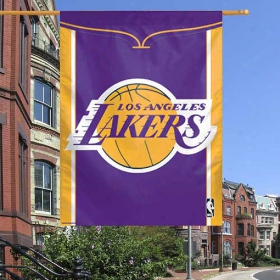 Los Angeles Lakers Flags : Los Angeles Lakers Purple 27'' X 37'' Vertical Flags Flags