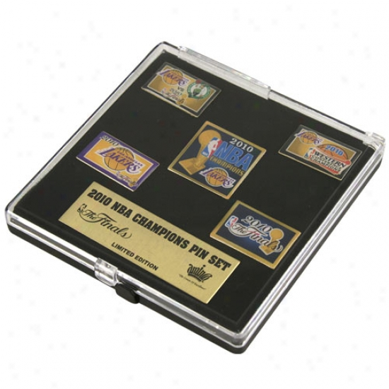Los Angeles Lakers Gear: Los Angeles aLkers 2010 Nba Chamions 5-pack Pin Set