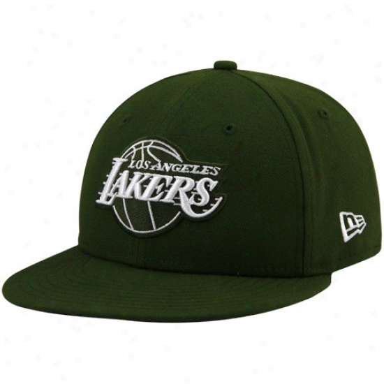 Los Angeles Lakers Hat : New Era Los Angeles Lakers Green League 59fifty Fitted Hat