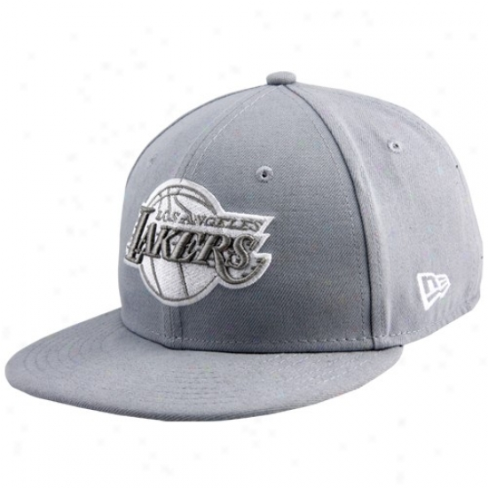 Los Angeles Lakers Hats : New Point of time Los Angeles Lakers Gray League 59fifty Fitted Hats