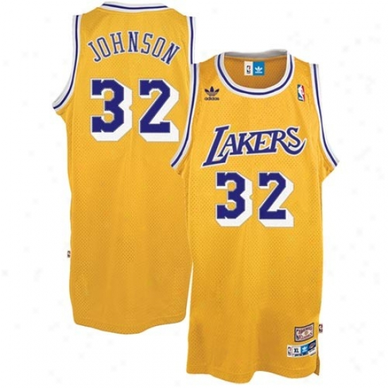 Los Anheles Lakers Jersey : Adidas Los Angeles Lakers #32 Magic Johnson Gold Swingman Basketball Jersey