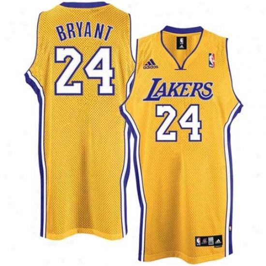 Los Angeles Lakers Jersey : AdidasL os Angeles Lakers #24 Kobe Bryant Gold Home Swingman Basketball Jersey