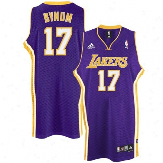 Los Angeles Lakers Jersey : Adidas Los Angeles Lakers #27 Andrew Bynum Purple Swingman Basketball Jetsey