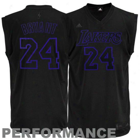 Los Angeles Lakers Jerseys : Adidas Kobe Bryant Los Angeles Lakers Novel Replica Perfformance Jersey-black-on-black