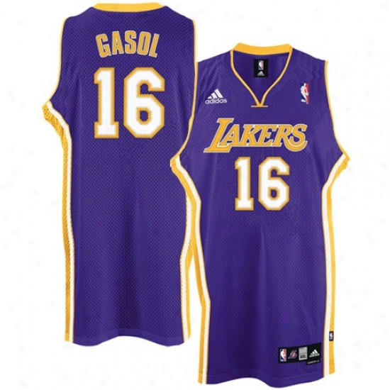 Los Angeles Lakers Jerseys : Adidas Los Angeles Lakers #16 Pau Gasol Purple Road Swingman Basketball Jerseys