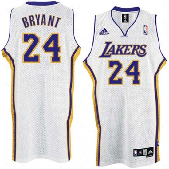 Los Angeles Lakers Jerseys : Adidas Los Angeles Lakers #24 Kobe Bryant Whit eSwingman Basketball Jerseys