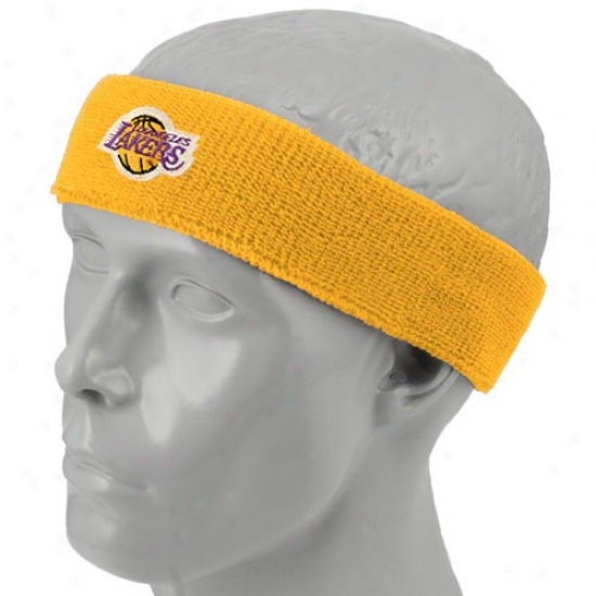 Los Angeles Lakers Merchandise: Los Angeles Lakers Gold Team Logo Headband