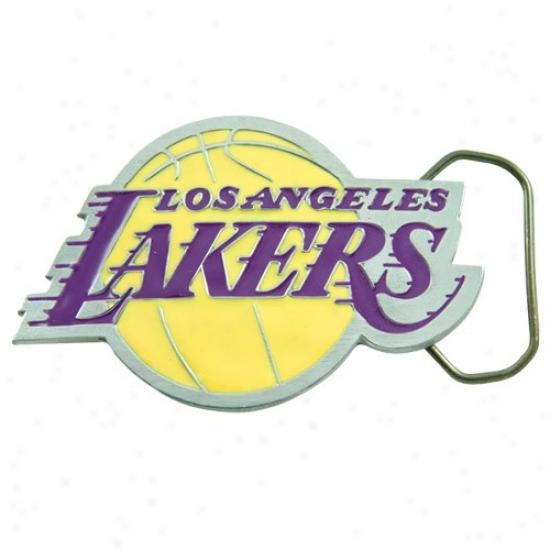 Los Angeles Lakers Pewter Team Logo Belt Buckle
