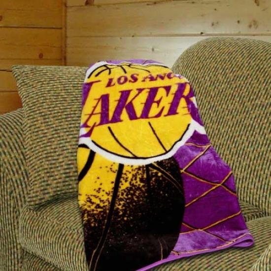 Los Angeles Lakers Purple Reflect Plush Blanket Throw