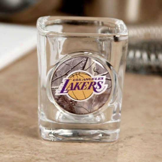 Loq Angeles Lakers Realtree Camo 2 Oz. Square Shot Giass