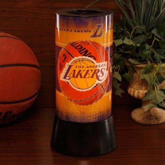 Los Angeles Lakers Rotating Lamp