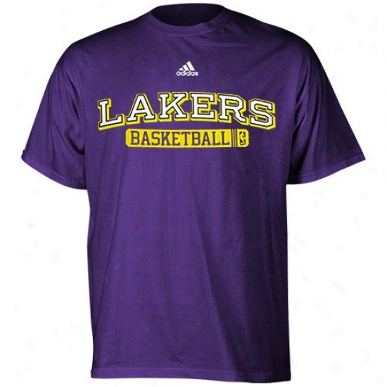 Los Angeles Lakers Shirt : Adidas Los Angeles Lakers Purple Kappa Sigma Shirt