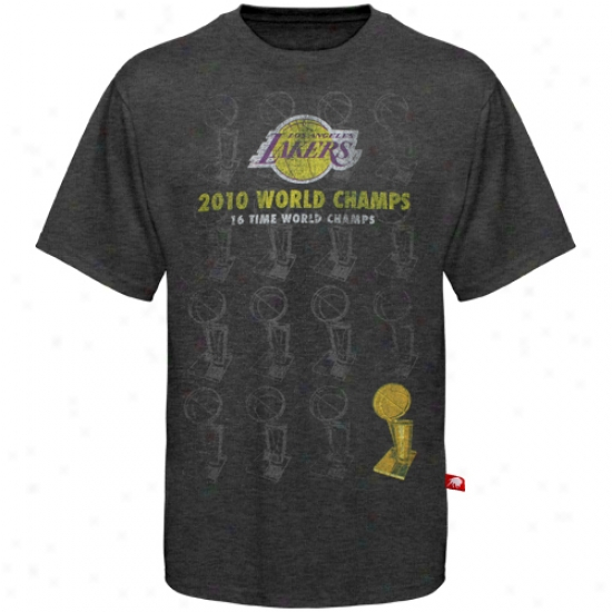 Los Angeles Lakers Shirt : Sportiqe Los Angeles Lakers Black 2010 Nba Champions Oops Shirt