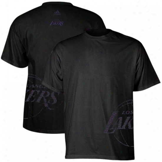 Los Angeles Lakers T-shirt : Adidas Los Angeles Lakers Black Equalizer T-hirt