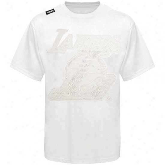 Los Angeles Lakers T-shirt : Los Angeles Lakers White Illusionz T-shirt