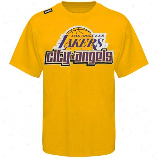 Los Angeles Lakers Tee : Los Angeles Lakers Gold Citywide Tee