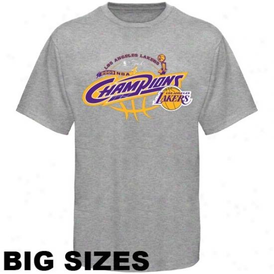 Los Angeles Lakers Tees : Los Angeles Lakers 2009 Nba Champions Ash Champs Big Sizes Tees