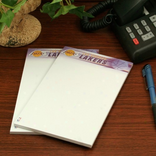 Los Angeles Lakers Two-pack 5'' X 8'' Team Logo Notepads