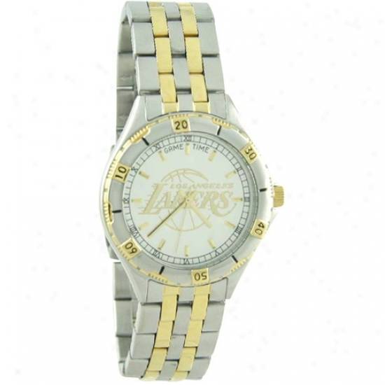 Los Angeles Lakers Watches : Low Angeles Lakers Stainless Steel General Manager Watches