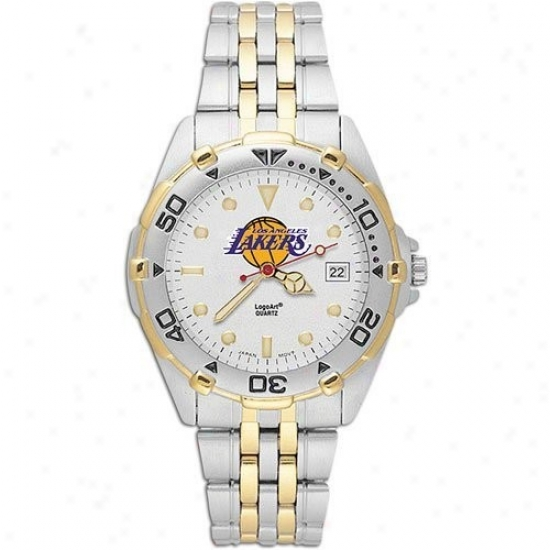 Los Angeles Lakers Watches : Los Angeles Lakers Men's Stainless Steel All-staf Watches