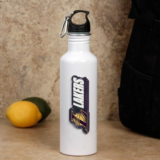 Los Angeles Lakers Pale Aluimnum Water Bottle