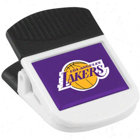 Los Angeles Lakers White Magnetic Chip Clip