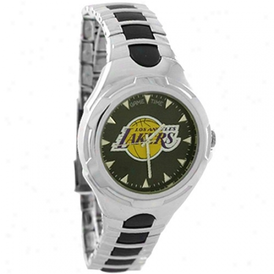 Los Angeles Lakers Wrist Watch : Los Angeles Lakers Stainless Steel Victory Wrist Watch