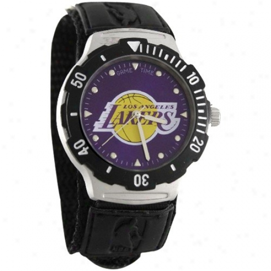 Los Angeles Lakers Wrist Watch : Los Angeles Lakers Agent V Wrist Watch