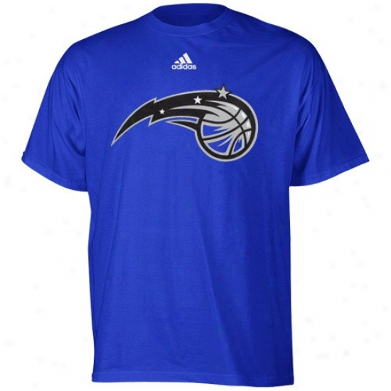 Magic Apparel: Adidas Magic Youth Royal Blue Primary Logo T-shirt