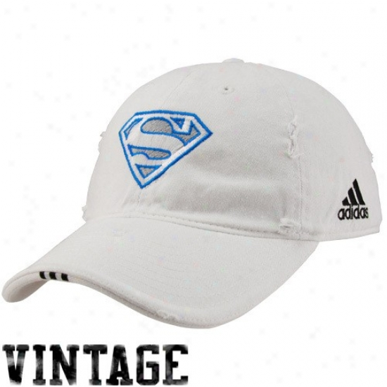 Magic Hat : Adidas Magic White Superman Vintage Adjustable Hat
