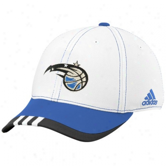 Magic Hats : Adidas Magic White On Court Flex Fit Hats