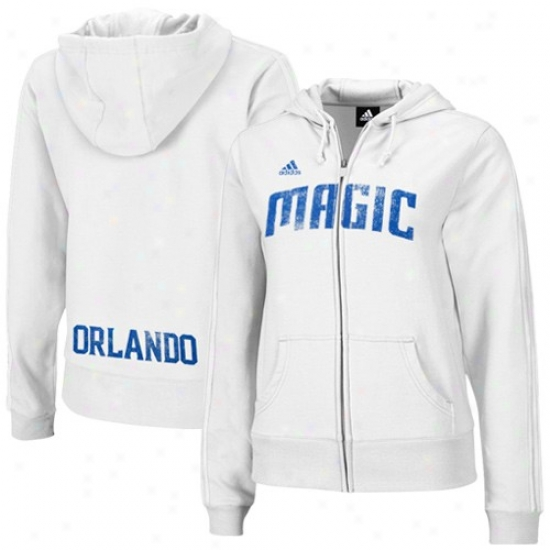 Magic Hoodie : Adidas Magic Ladies White Tail Fragment Full Zip Hoodie