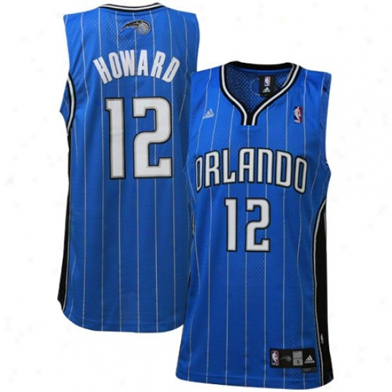 Magic Jersey : Adidas Magic #12 Dwight Howard Royal Blue Road Swingman Basketball Jersey