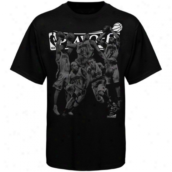 Magic Shirt : Magic Black Nba Playoffs 5 Up Shirt