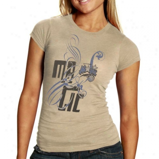 Magic Shitt : Magic Ladies Cream Graffiti Script Premoum Slub Shirt