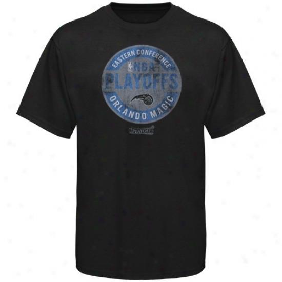 Magic Shirts : Sportiqe Magic Black Nba Playoffs Vintage Shirts
