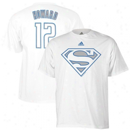 Magic T Shirt : Adidas Magic #12 Dwight Howard White Superman T Shirt