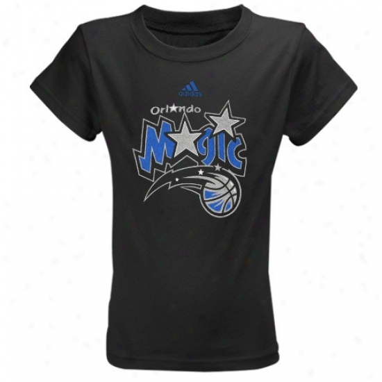 Magic T Shirt : Adidas Magic Youth Girls Black Team Logo T Shirt