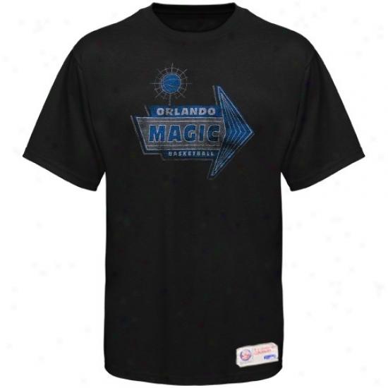 Magic T Shirt : Sportiqe-espn Magic Dismal Strip Distressed Premium T Shirt