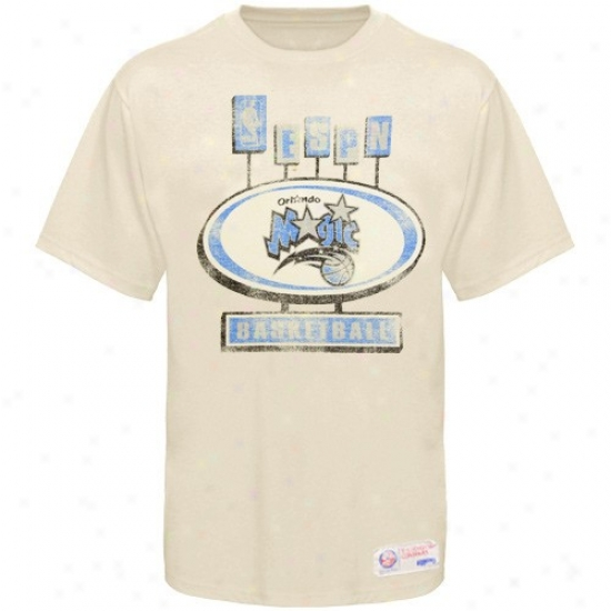 Magic Tee : Sportiqe-espn Magic Cream Pancakes Distressed Premium Tee