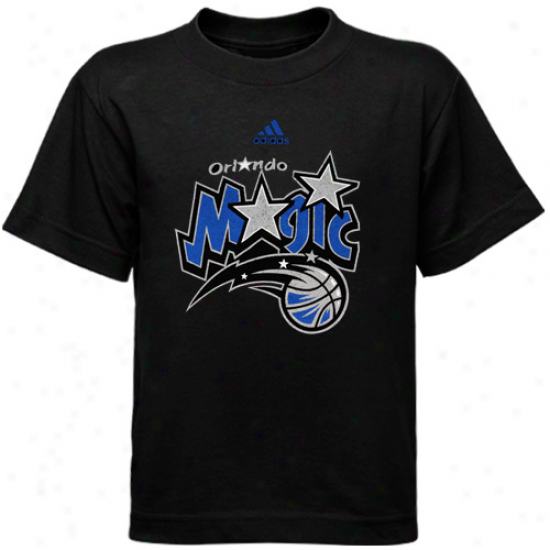 Magic Tshirt : Adidas Magic Youth Black Logo Tshrit