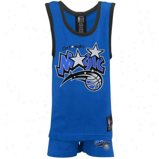 Magic Tshirt : Magic Youth Royal Blue 2-piece Pajama Set