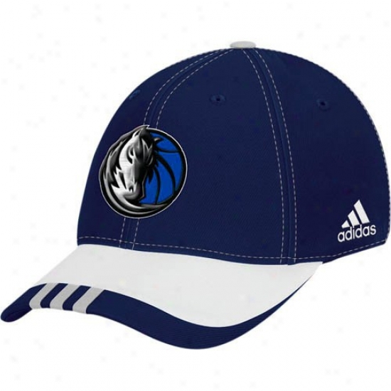 Maverickd Gear: Adidas Mavericks Navy Blue Youth Draft Day Flex Fit Hat